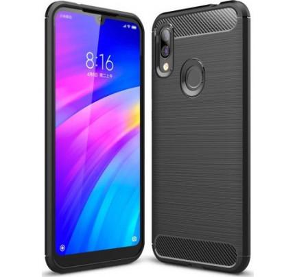 Θήκη OEM Carbon Flexible Cover TPU Case for Xiaomi Redmi 7 black