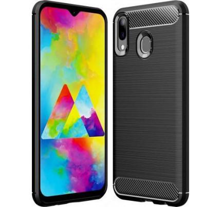 Θήκη Carbon Flexible Cover TPU for Samsung Galaxy M20 black