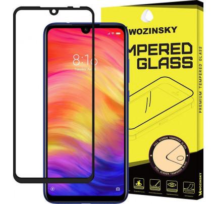 Wozinsky Tempered Glass Full Glue Super Tough Full Coveraged with Frame Case Friendly for Xiaomi Redmi 7 black