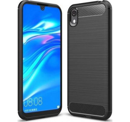 Θήκη OEM Brushed Carbon Flexible Cover TPU για Huawei Y5 2019 μαύρου χρώματος
