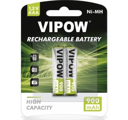 VIPOW Επαναφορτιζόμενες Μπαταρίες AAA 900 mah ( 2 TEMAXIA )
