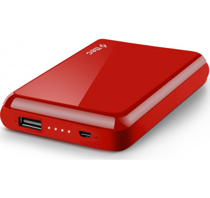 TTEC ReCharger™ S 5.000mAh Powerbank Φορητή Μπαταρία red