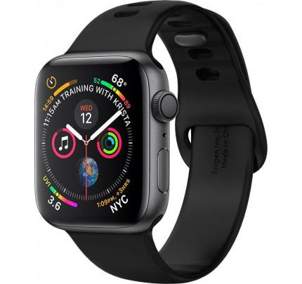 Spigen 061MP25405 Air Fit Λουράκι Σιλικόνης Μαύρο Apple Watch 2/3/4/5/6/SE 38/40mm