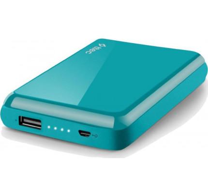 TTEC ReCharger™ S 5.000mAh Powerbank Φορητή Μπαταρία turquoise