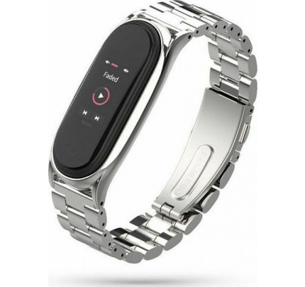Tech-Protect Stainless Steel Watch Bracelet Xiaomi Mi Band 5 Silver