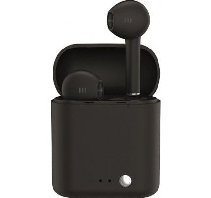 Ledwood T14 Rubber Earbud Bluetooth Handsfree Μαύρο