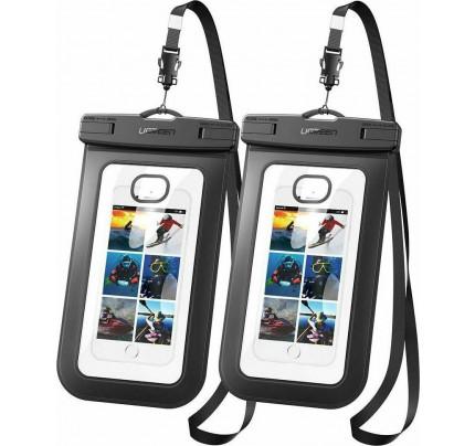 """'Αδιάβροχη θήκη UGREEN LP186 waterproof phone case (transparent black) εως 6.7"""""""