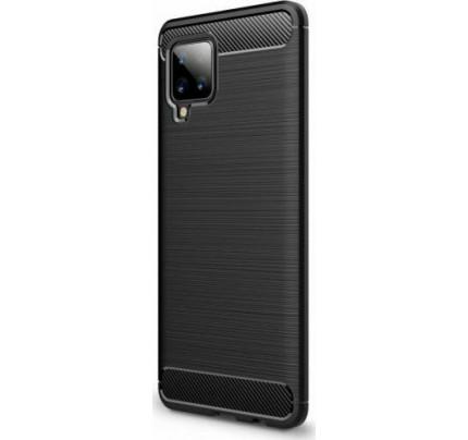 Θήκη OEM Brushed Carbon για Samsung Galaxy A42 μαύρου χρώματος
