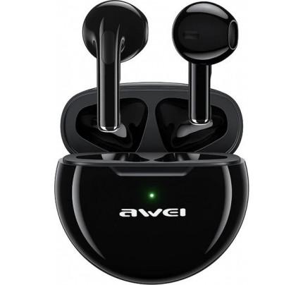 Awei T17 Earbud Bluetooth Handsfree μαύρου χρώματος