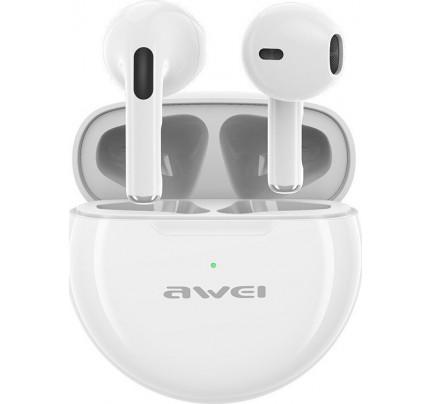 Awei T17 Mini Earbud Heavy Bass Bluetooth Handsfree Λευκού χρώματος