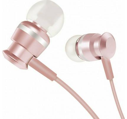 Joyroom EL122 In-ear Handsfree με Βύσμα 3.5mm Ροζ Χρυσό