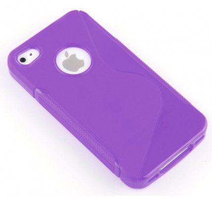 Θήκη TPU S-Line για iPhone 4/4s violet