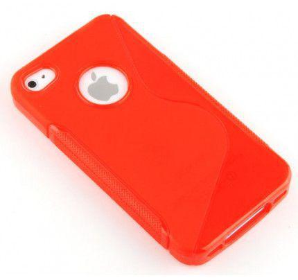 Θήκη TPU S-Line για iPhone 4/4s red