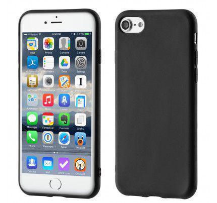 Θήκη OEM Soft Matt Gel TPU Cover για iPhone 8 / 7 μαύρου χρώματος