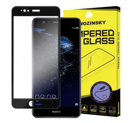 Φιλμ Προστασίας Οθόνης Tempered Glass (άθραυστο ) 9H για Huawei P9 Lite 2017 / P8 Lite 2017 full face black
