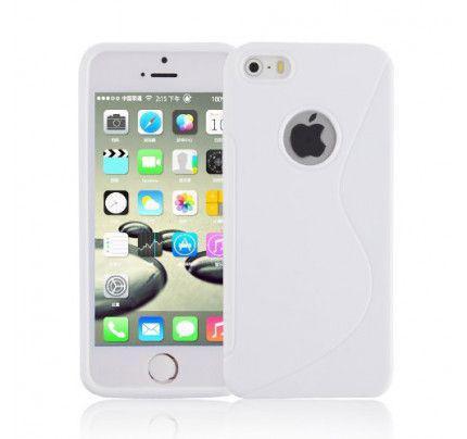 Θήκη TPU S-Line για iPhone 5/5s white
