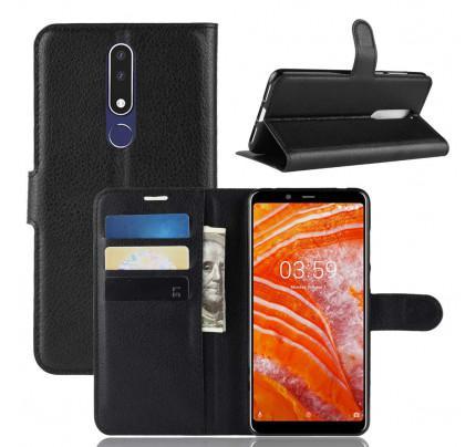 Θήκη OEM Wallet για Nokia 3.1 Plus μαύρου χρώματος
