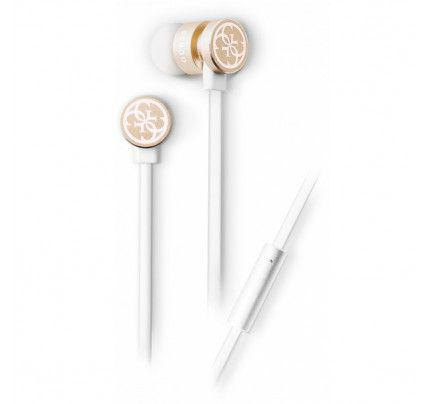 Guess Wired Stereo Headset White/Gold GUEPWIGO