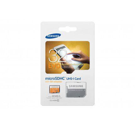 Samsung MB-MP32DA/EU EVO 32GB MICRO SDHC CLASS 10 + Adapter