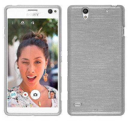 Θήκη Jelly Brush TPU για Sony Xperia C4 λευκού χρώματος