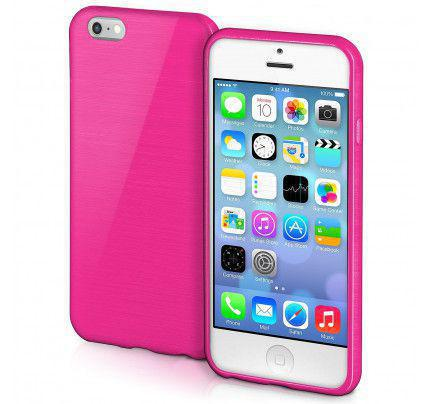 Θήκη Jelly Brush TPU για iPhone 5/ 5s /SE ροζ χρώματος
