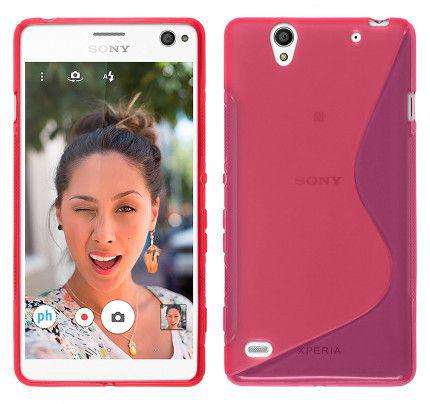 Θήκη TPU S-Line για Sony Xperia C4 ροζ χρώματος