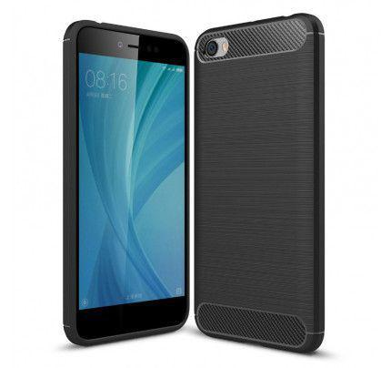 Θήκη OEM Brushed Carbon Flexible Cover TPU για Xiaomi Redmi Note 5A μαύρου χρώματος