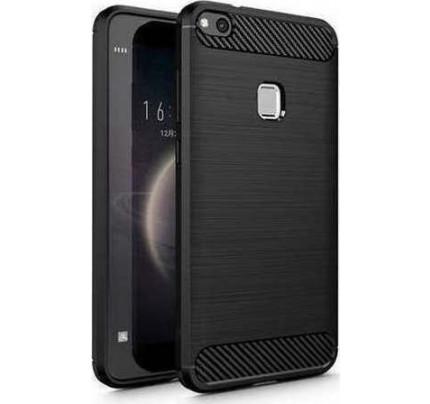 Θήκη OEM Brushed Carbon Flexible Cover TPU for Huawei P10 Lite μαύρου χρώματος