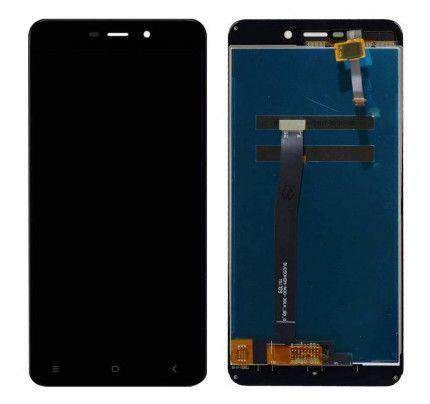 Οθόνη Lcd+Touch Xiaomi Redmi 4A Μαύρη + Δώρο Tempered Glass + TPU διάφανη