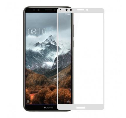 Tempered Glass Full Glue Full Coveraged 5D for Huawei Y7 PRIME 2018 white ( full face )