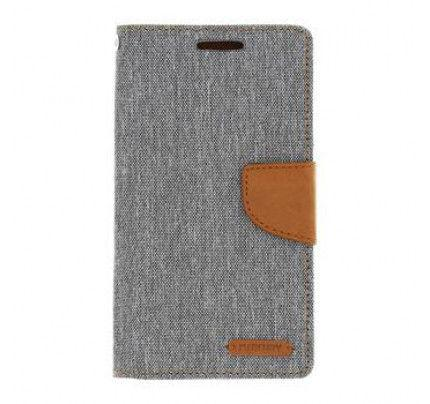 Θήκη Mercury Canvas Diary Asus Zenfone 2 ZE551ML Grey / Camel