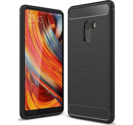 Θήκη OEM Brushed Carbon Flexible Cover TPU για Xiaomi Mi Mix 2 μαύρου χρώματος