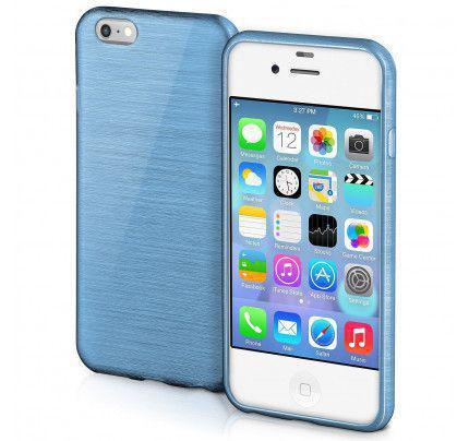 Θήκη Jelly Brush TPU για iPhone 4 / 4s μπλε χρώματος