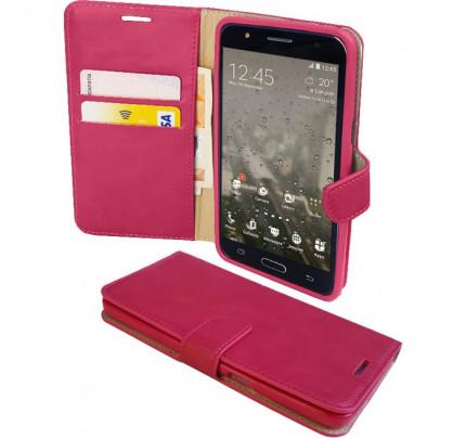 """Θήκη OEM Wallet για Alcatel Pixi 4 5 """" ( stand ,θήκες για κάρτες,χρήματα) ροζ χρώματος"""