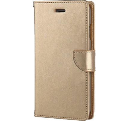 Θήκη OEM Wallet για ZTE A460 ( stand ,θήκες για κάρτες,χρήματα) χρυσού χρώματος