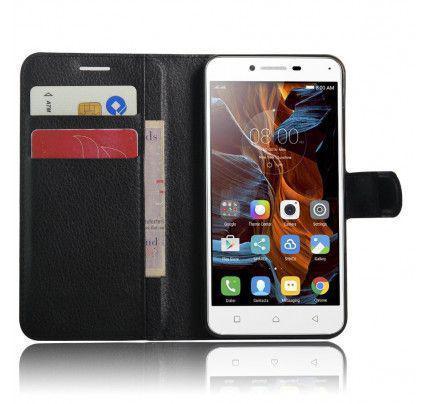 """Θήκη OEM Wallet για Lenovo K5 / K5 Plus  5 """" ( stand ,θήκες για κάρτες,χρήματα) μαύρου χρώματος"""