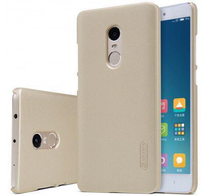 Θήκη Nillkin Super Frosted Shield για Xiaomi Redmi Note 4 χρυσού χρώματος + Φιλμ Προστασίας Οθόνης