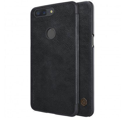 Θήκη Nillkin Qin Book για OnePlus 5T Sleep / Wake Function μαύρου χρώματος ( Δερμάτινη)