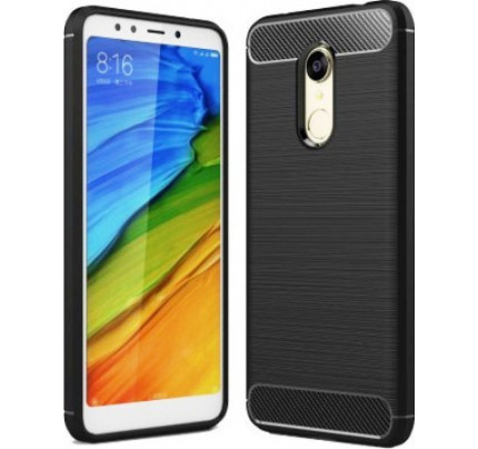 Θήκη OEM Brushed Carbon Flexible Cover TPU για Xiaomi Redmi 5 μαύρου χρώματος