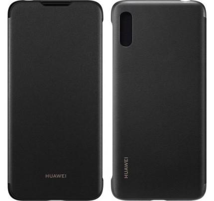 Huawei Original PU Flip Cover Y6 2019 black 51992945
