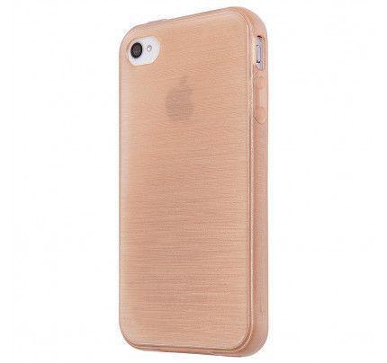 Θήκη Jelly Brush TPU για iPhone 4 / 4s χρυσού χρώματος