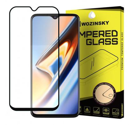 Wozinsky Tempered Glass Full Glue Super Tough Full Coveraged with Frame Case Friendly for OnePlus 7 black