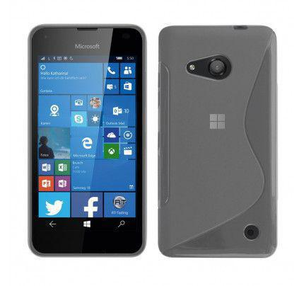 Θήκη TPU S-Line για Microsoft Lumia 550 black transparent