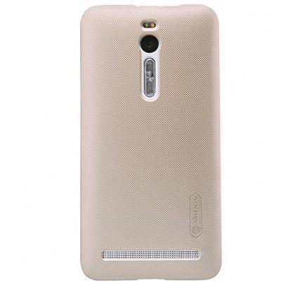 Θήκη Nillkin Super Frosted Shield για Asus Zenfone 2 ZE500CL gold + Φιλμ Προστασίας Οθόνης