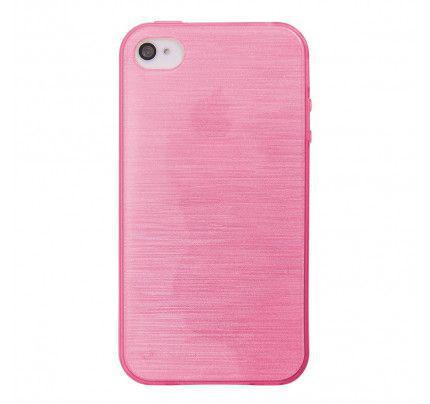 Θήκη Jelly Brush TPU για iPhone 4 / 4s ροζ χρώματος