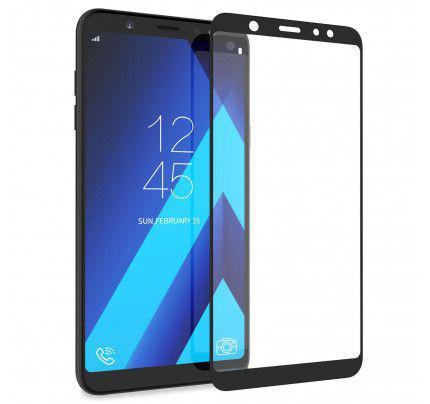 Tempered Glass Screen Protector Πλήρους Κάλυψης για Samsung Galaxy A6+ PLUS 2018 A605 black