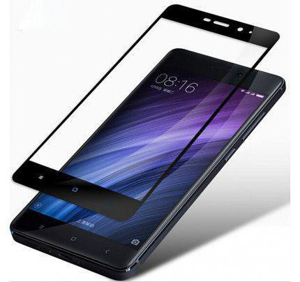 Tempered Glass Screen Protector Πλήρους Κάλυψης με πλαίσιο PET για Xiaomi Redmi Note 4X / Note 4 Snapdragon global version black