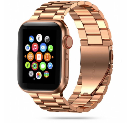 TECH-PROTECT STAINLESS APPLE WATCH 1/2/3/4/5/6 (42/44MM) ROSE GOLD