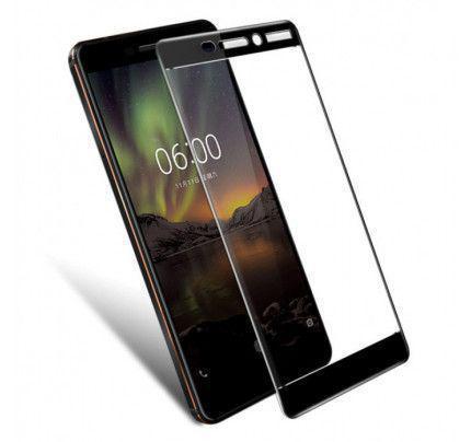 Φιλμ Προστασίας Οθόνης Tempered Glass (άθραυστο ) 9H για Nokia 6 2018 πλήρους κάλυψης black
