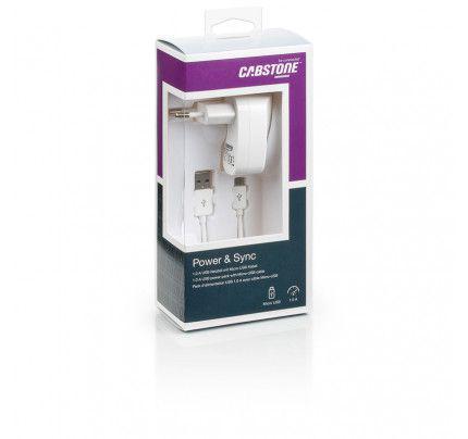Φορτιστής ταξιδίου και καλώδιο συγχρονισμού Cabstone 1.0 A Micro Usb συσκευές (63053)